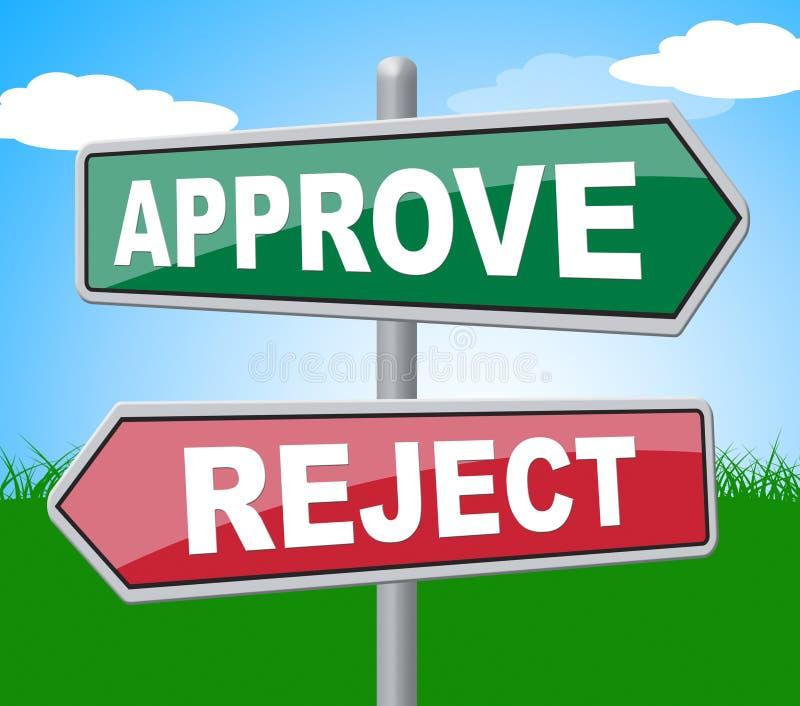 批准废弃物代表牌保证并且拒绝了 皇族释放例证