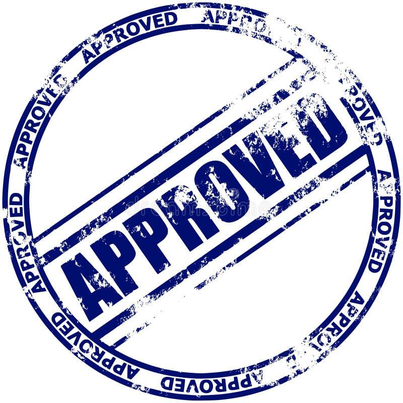 批准的不加考虑表赞同的人 向量例证