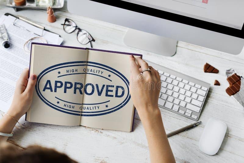 100%批准的专属保证产品概念 免版税库存照片