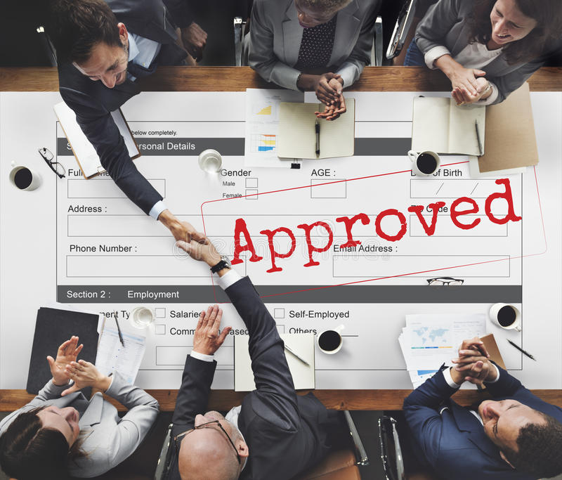批准的协议当局保证许可证概念 库存照片