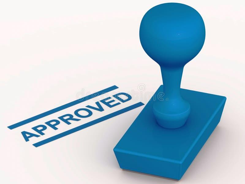 批准的印花税 向量例证