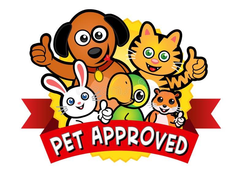 批准的宠物密封 库存例证