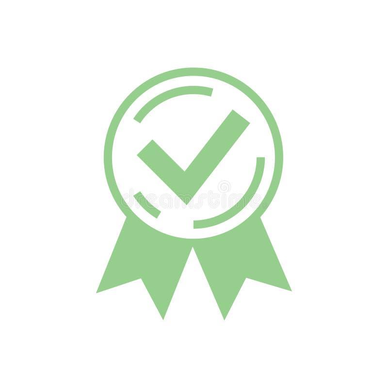 批准的被证明的象 被证明的封印象 玫瑰华饰或奖v 库存例证