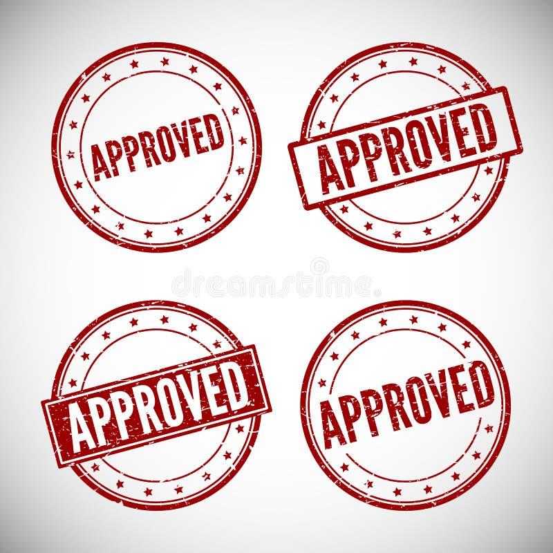 批准的邮票,传染媒介例证 库存例证
