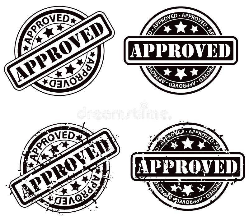 批准的邮票 向量例证