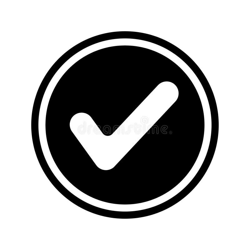批准,checkedmark,被授予象 库存例证