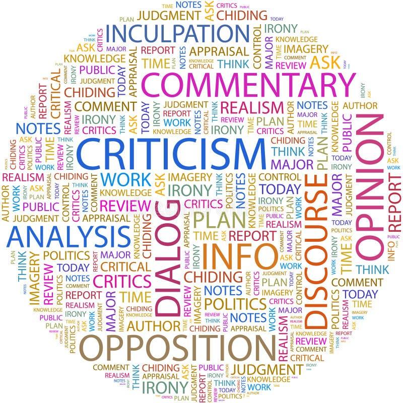 批评。 向量例证