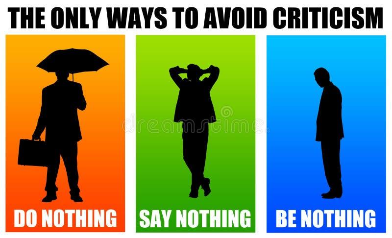 批评 向量例证