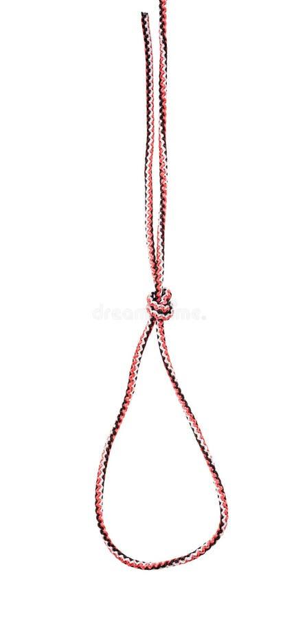 扼杀在综合性绳索栓的圈套结被删去 图库摄影