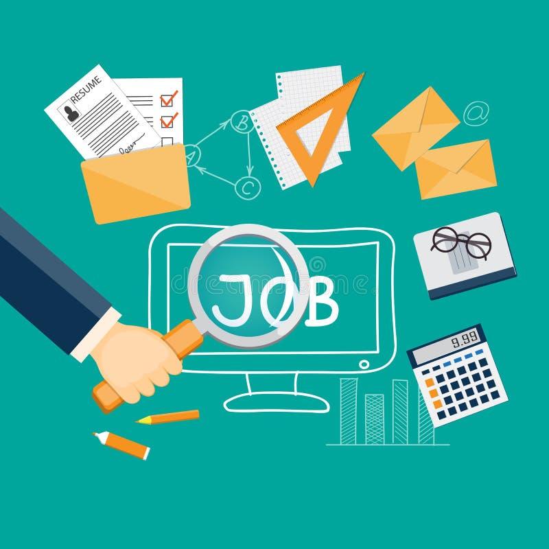 寻找一个工作 向量例证