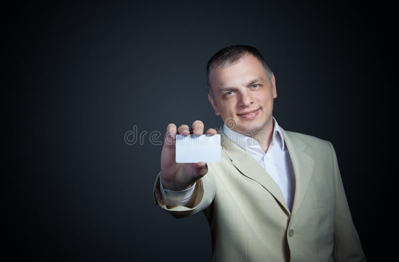 寻找信用卡的人 库存照片