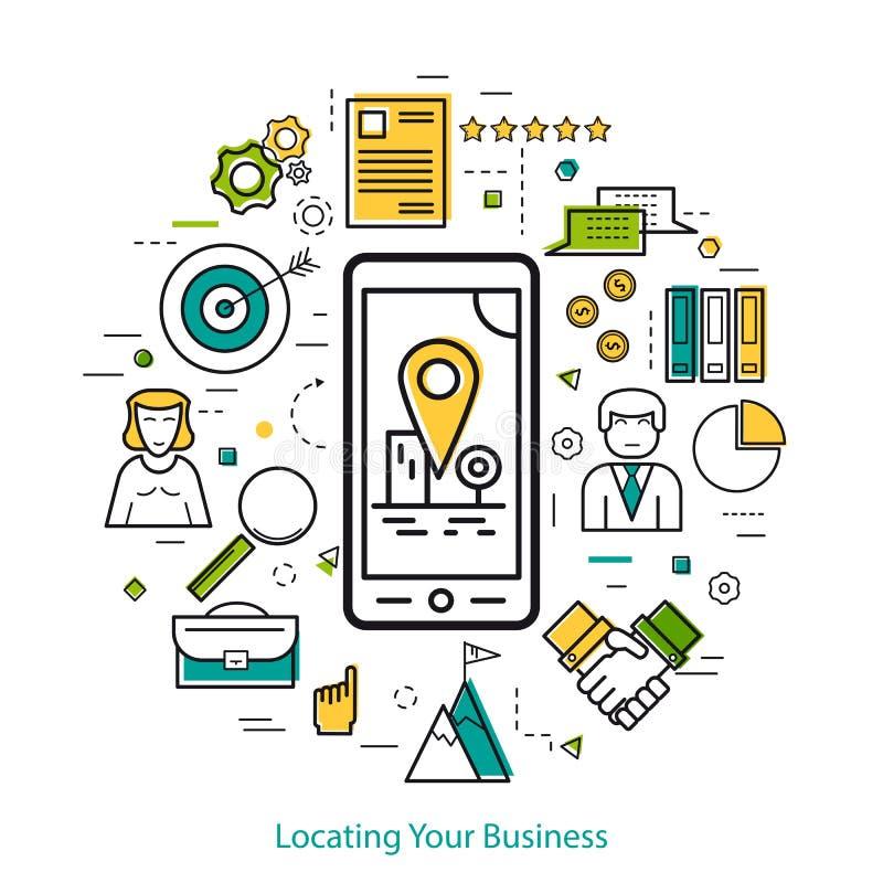 找出您的事务- LineArt 向量例证