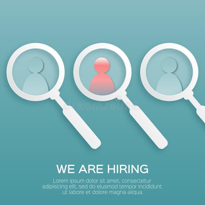 寻找合适的人 选择聘用的有天才的人民 向量例证