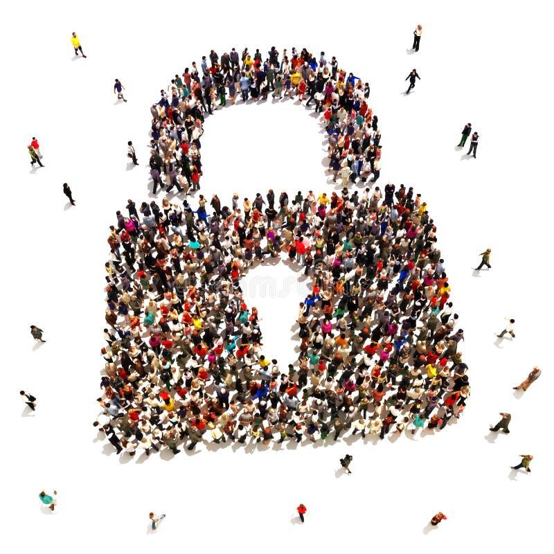 寻找安全的大人 向量例证