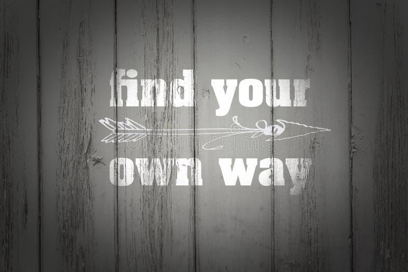 寻找您的在木头的道路 图库摄影