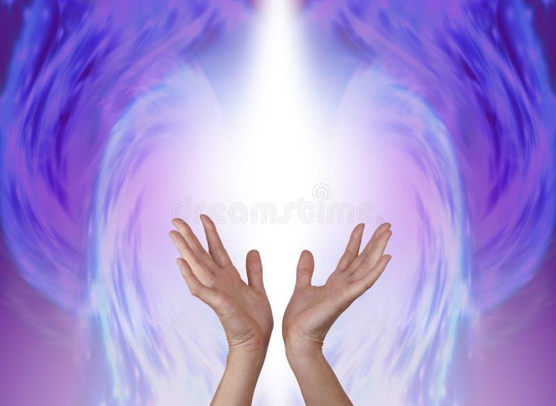 寻找的天使帮助 皇族释放例证