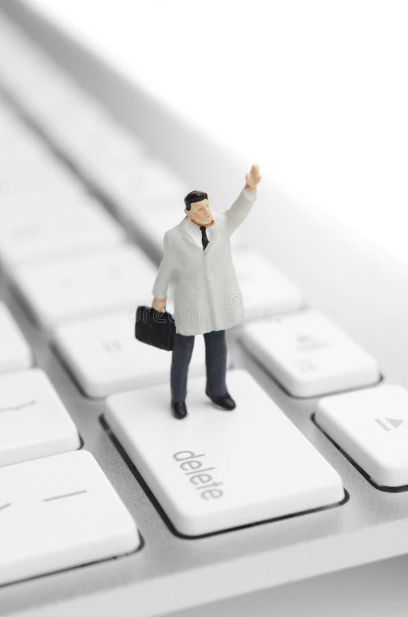 寻找网上工作 免版税图库摄影