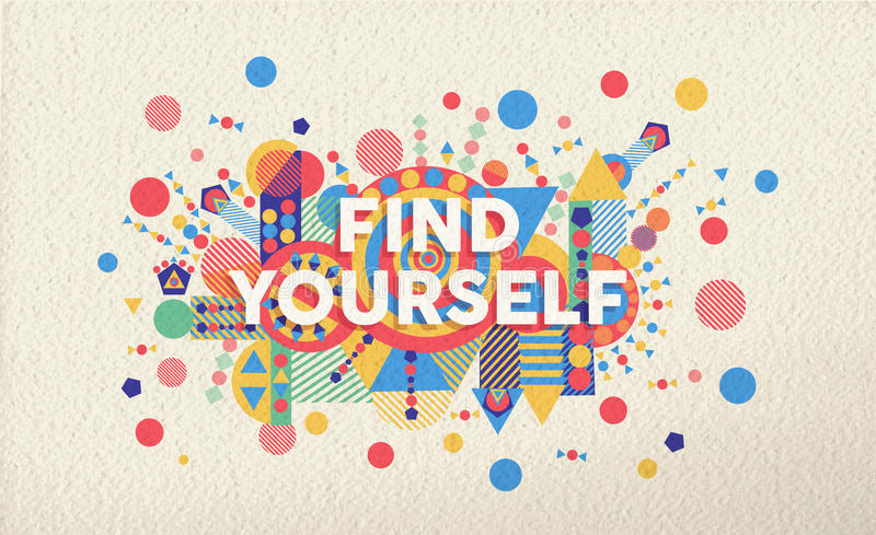 寻找自己行情海报设计背景 向量例证