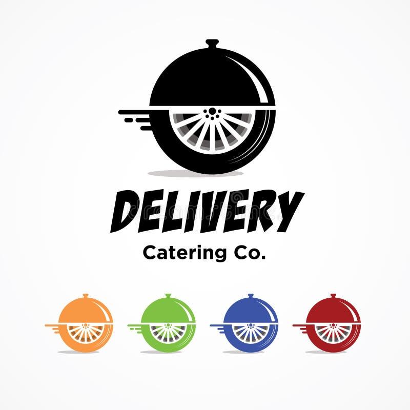 承办的食物交付witj多种颜色 库存例证