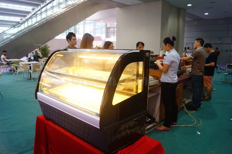 承办酒席服务在深圳大会和会展中心,中国中 免版税库存照片