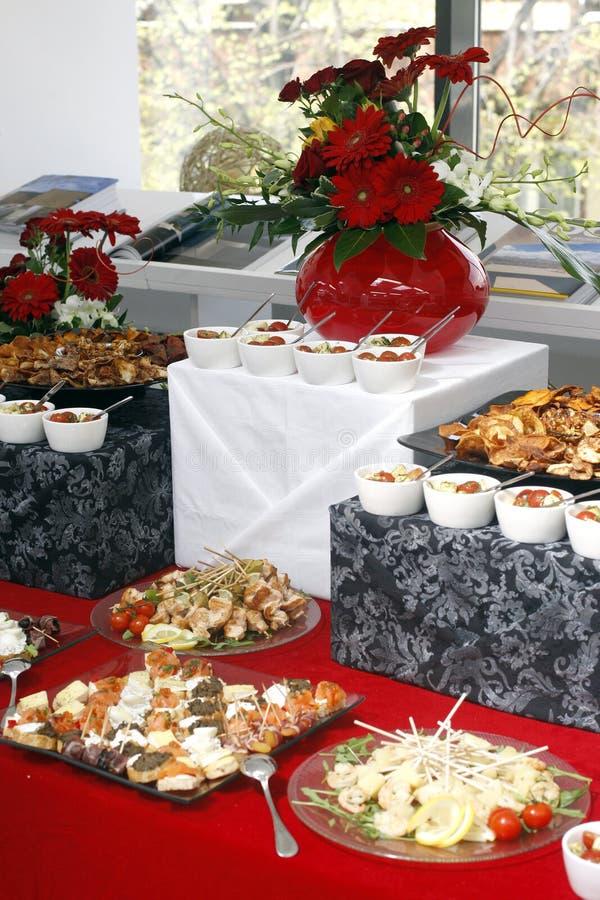 承办酒席食物 免版税库存图片