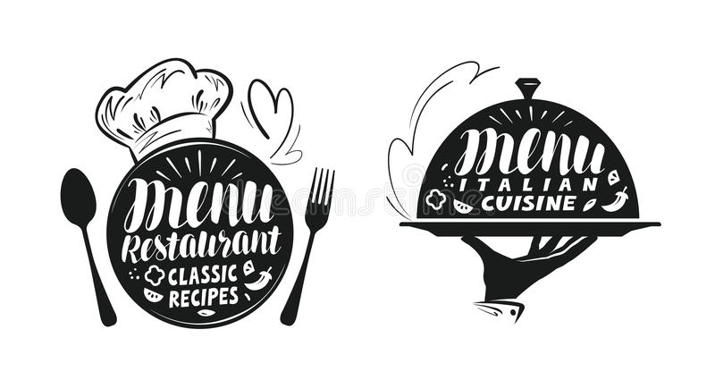 承办酒席,军用餐具概念 设计菜单餐馆或咖啡馆的例证 向量例证