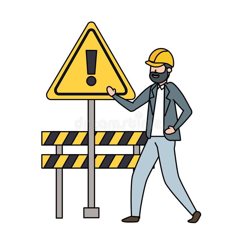 承包商人障碍 向量例证