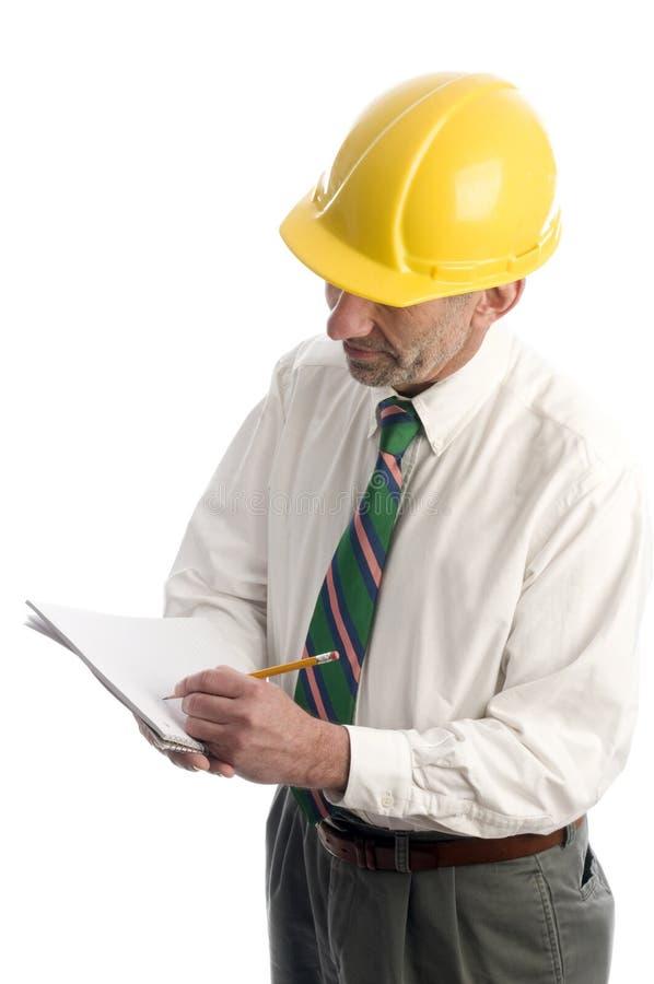 承包商估计项目文字 免版税库存照片