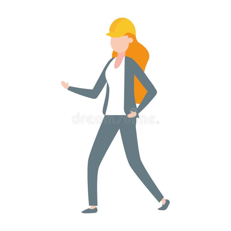 承包商女工 向量例证