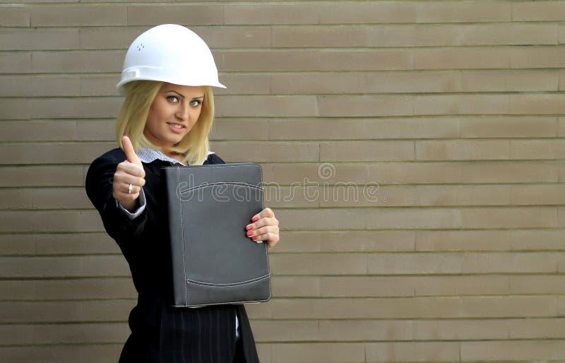 承包商妇女 免版税图库摄影
