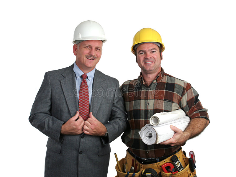 承包商工程师 库存照片