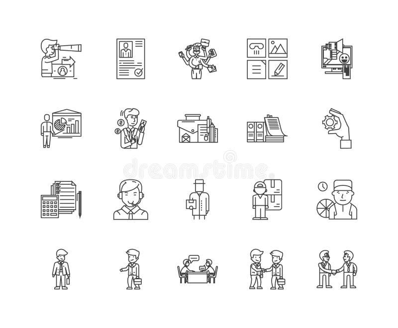 承包商排行象,标志,传染媒介集合,概述例证概念 皇族释放例证
