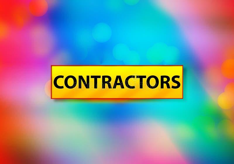 承包商提取五颜六色的背景Bokeh设计例证 库存例证