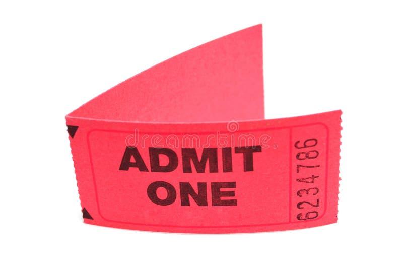 承认一卖票二 免版税库存照片
