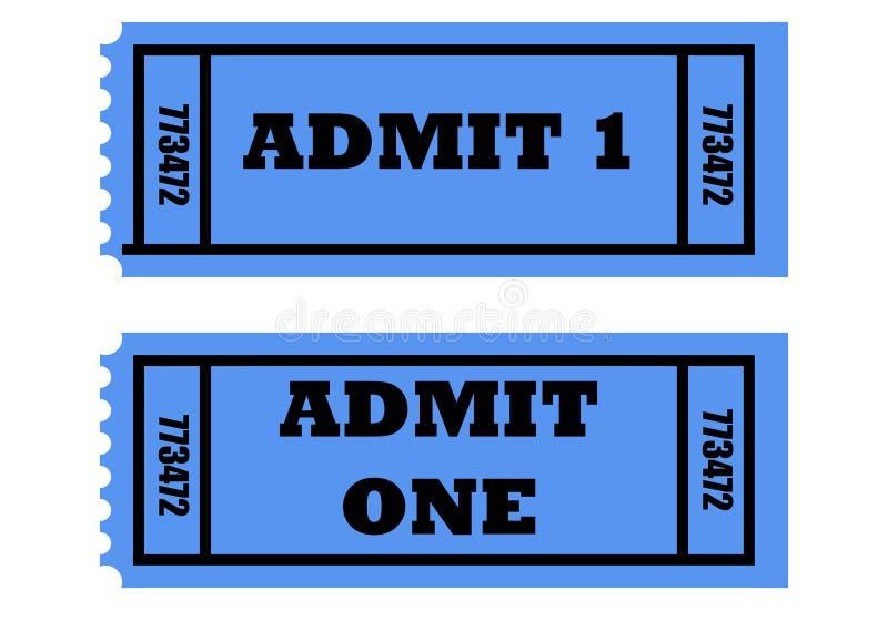 承认一卖票 向量例证