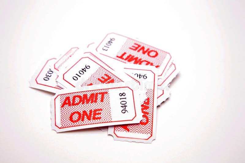 承认一卖票 免版税图库摄影