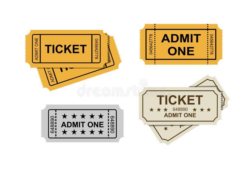 承认一卖票 库存例证