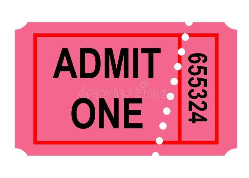 承认一张票 库存例证