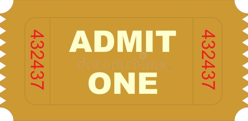 承认一张票 向量例证