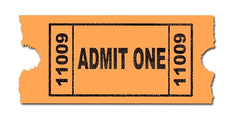 承认一张被隔绝的票 库存例证