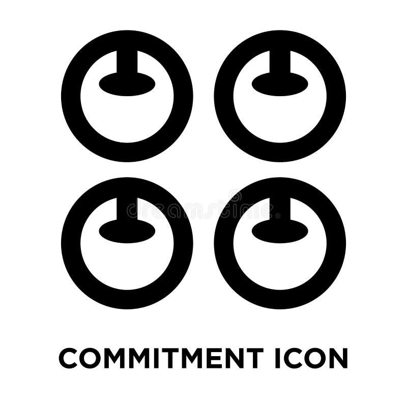 承诺在白色背景隔绝的象传染媒介,商标concep 库存例证
