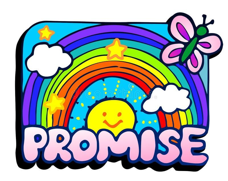承诺 向量例证