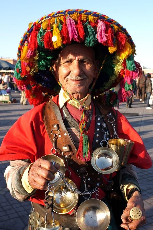 承运人马拉喀什传统水 免版税库存图片