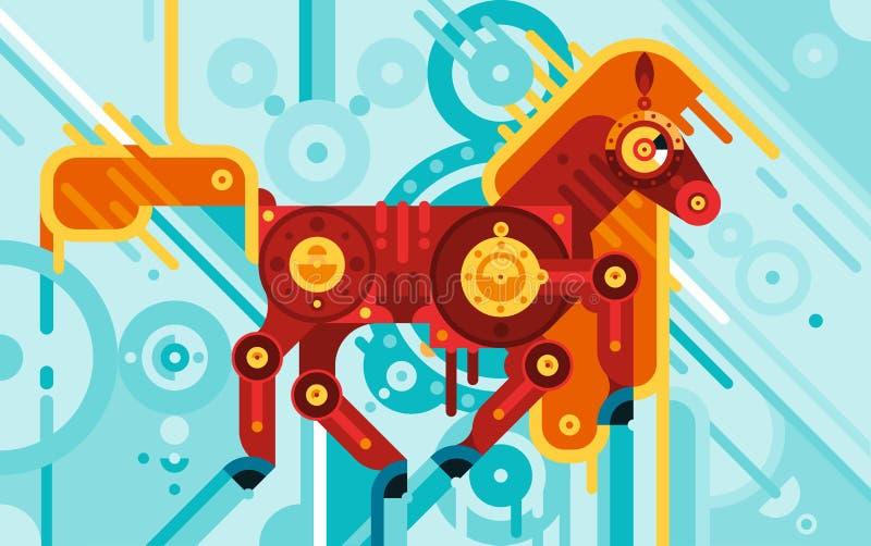Download 技工马摘要概念 向量例证. 插画 包括有 机械, 图标, 技工, 装饰, 上涨, 平面, 详细资料, 敌意 - 72356659