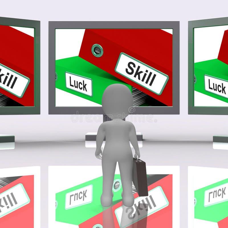 技巧和运气文件夹显示专门技术3d翻译 库存例证