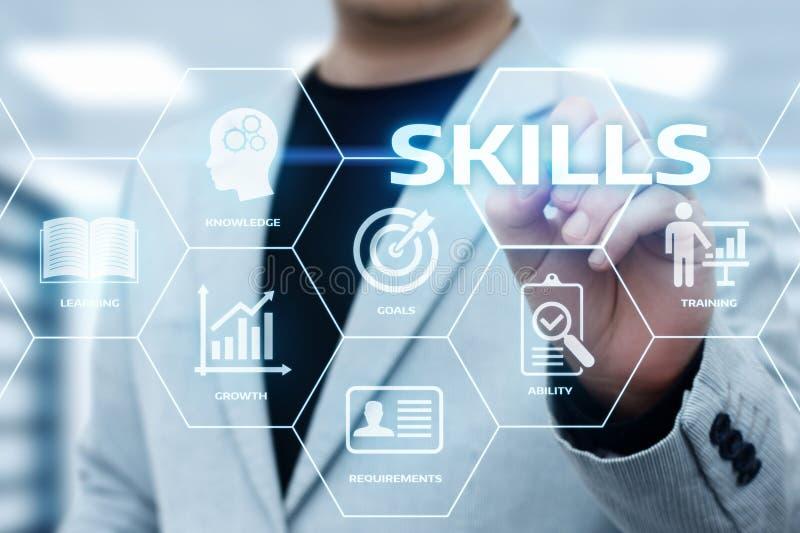 技巧知识能力企业互联网技术概念 免版税库存照片