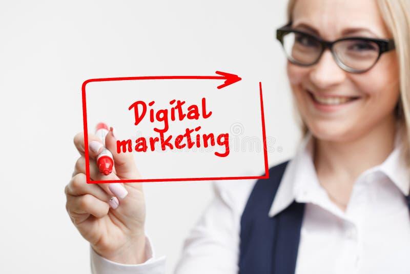 技术、互联网、事务和营销 年轻企业wom 库存图片