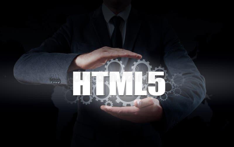 技术、互联网和网络安全 HTML5 免版税库存图片
