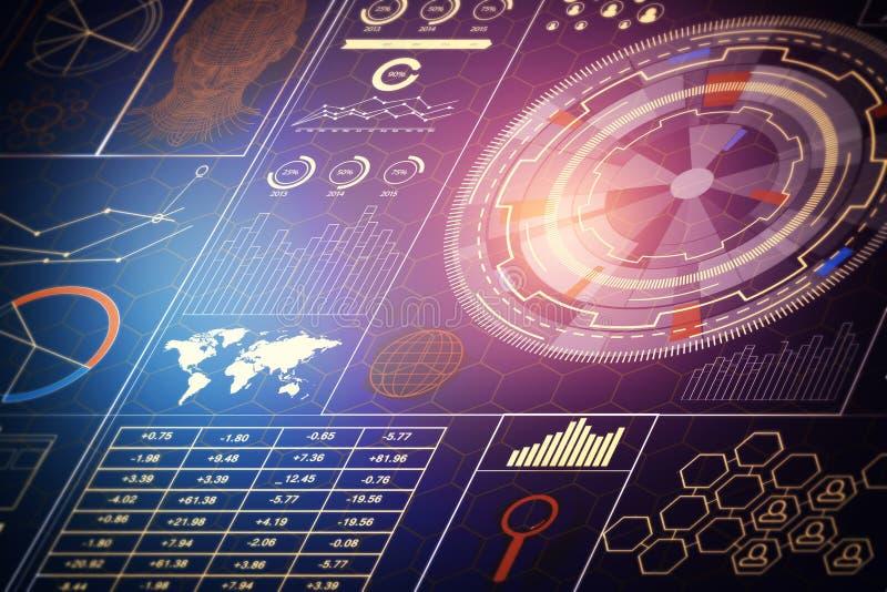 技术、创新和财务概念 向量例证