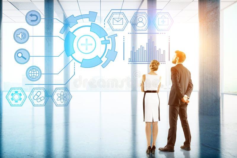技术、未来、创新和通信概念 免版税图库摄影
